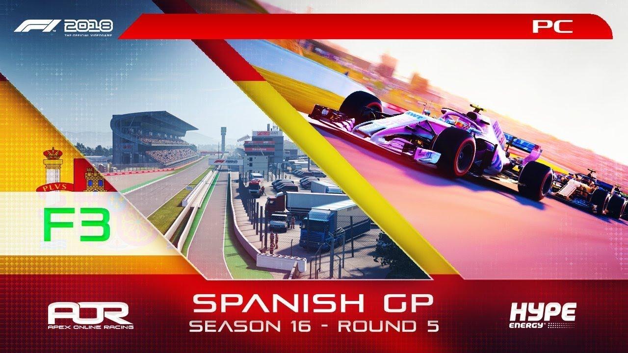 F1 2018   AOR Hype Energy Tier 4 League   PC   S16   R5: Spanish GP