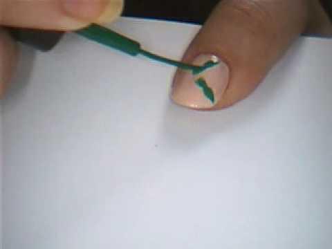 Mistletoe Nail Art Design Youtube