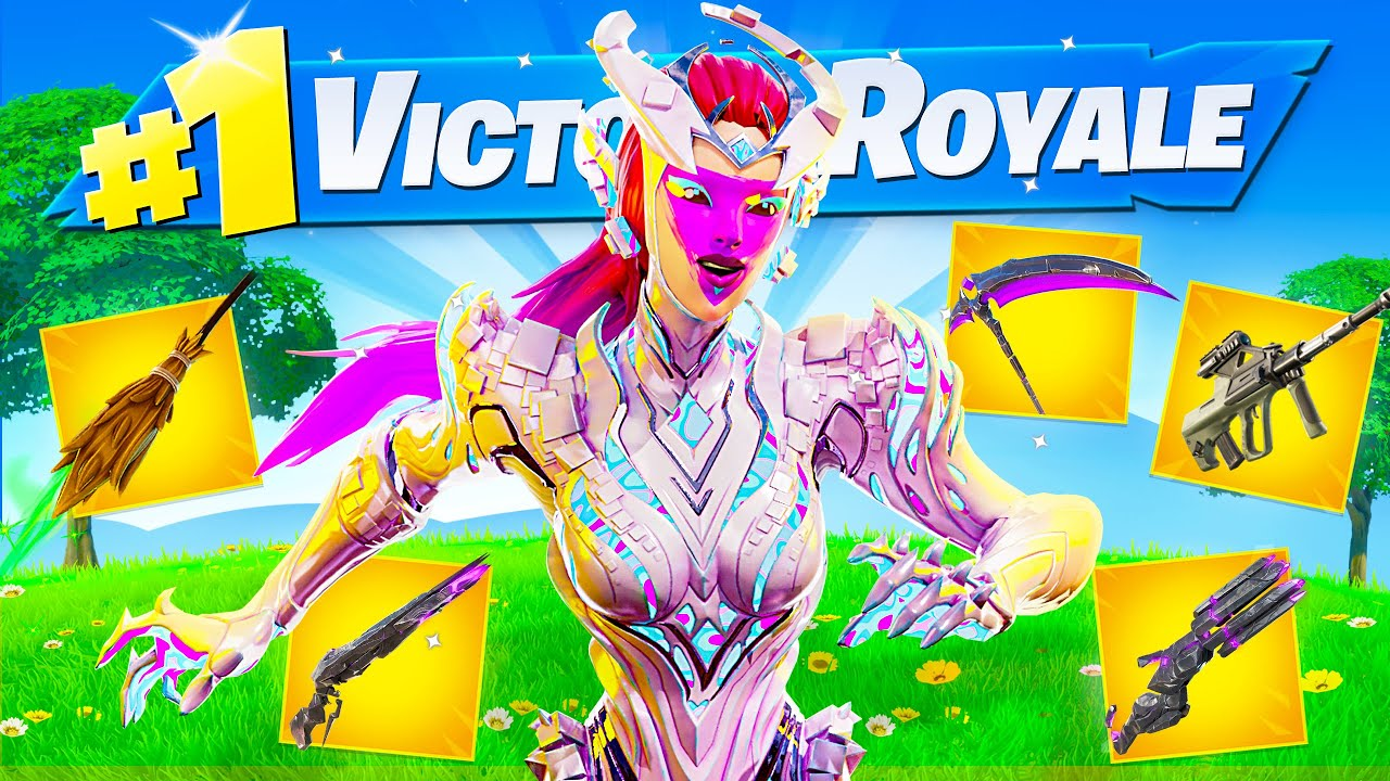 I Got All 5 BOSS MYTHIC ITEMS in ONE GAME of Fortnite (Cube Queen, Caretaker, Witch, Dr Slone etc)