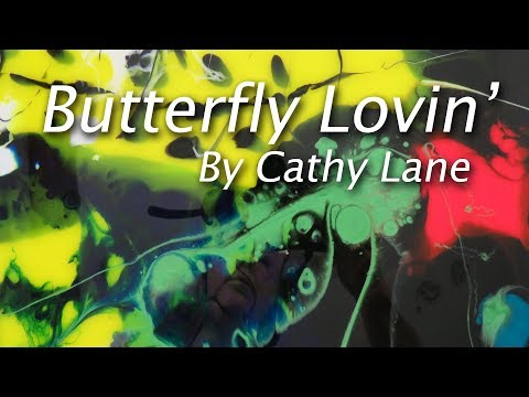 'Butterfly Lovin'. Resin painting using photo inspiration.