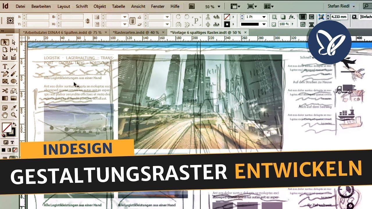 Indesign Tutorial Gestaltungsraster Entwickeln Satzspiegel Aufbauen Folder Erstellen