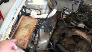 A importância do filtro de ar do motor.