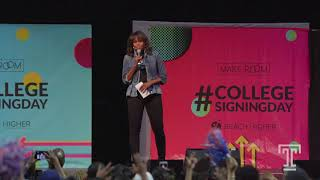 Michelle Obama Speaks at 2018 College Signing Day