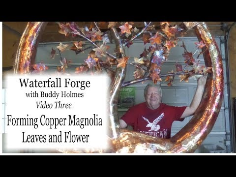 Forming Copper Magnolia Leaves and Flower