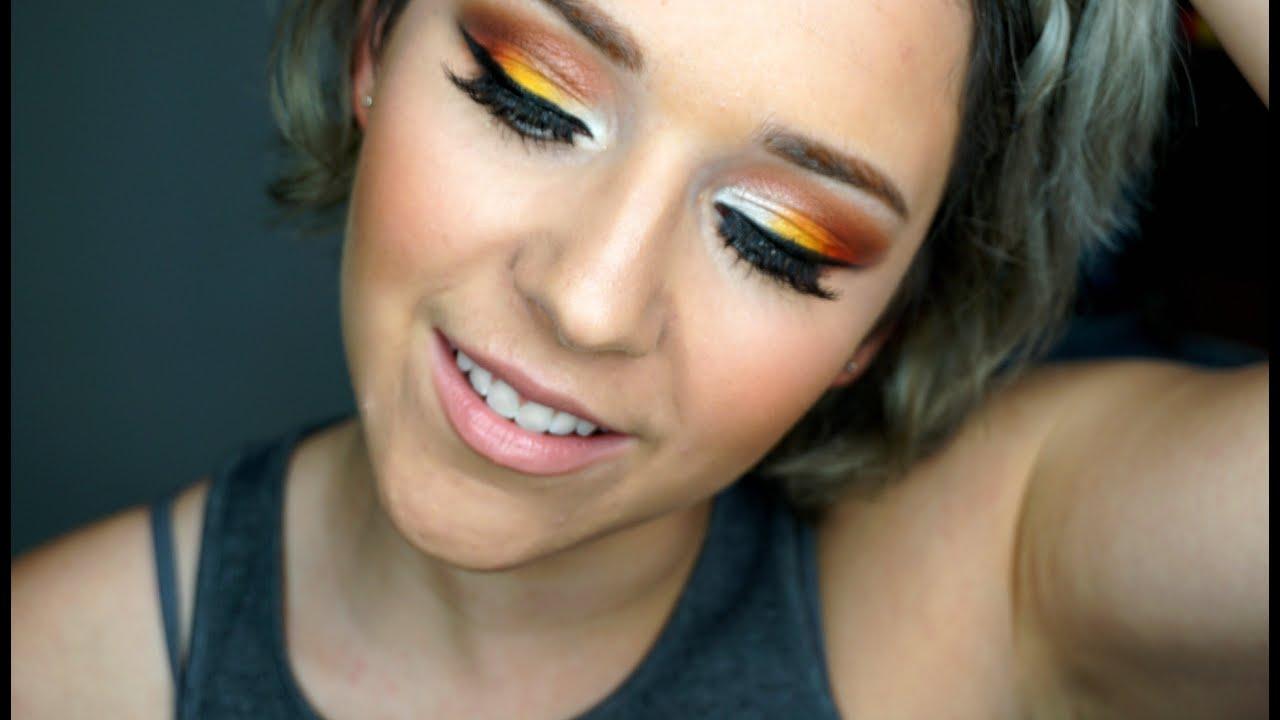 Halloween Candy Corn Eye Makeup Look ft. Sugarpill Cosmetics ...