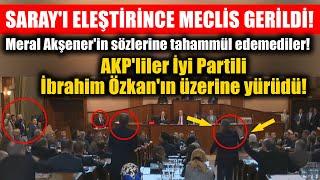 İYİ Partili İbrahim Özkan Saray'ı eleştirince İBB Meclisi gerildi! AKP'liler üzerine yürüdü!