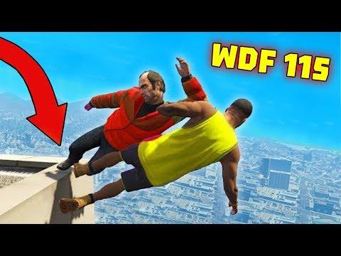 Приколы в GTA 5   WDF 115   Как спуститься с крыши?