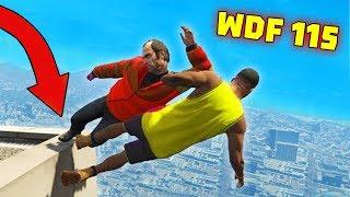 Приколы в GTA 5 | WDF 115 | Как спуститься с крыши?