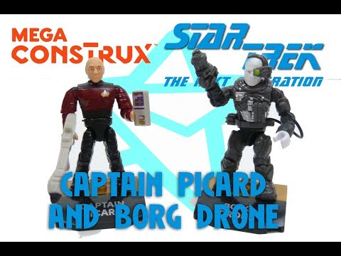 MEGA CONSTRUX HEROES STAR TREK CAPTAIN PICARD AND BORG DRONE REVIEW