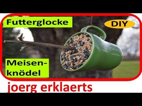 DIY Futterglocke / Meisenknödel selber machen Vogelfutter für Wildvögel Tutorial Nr.153