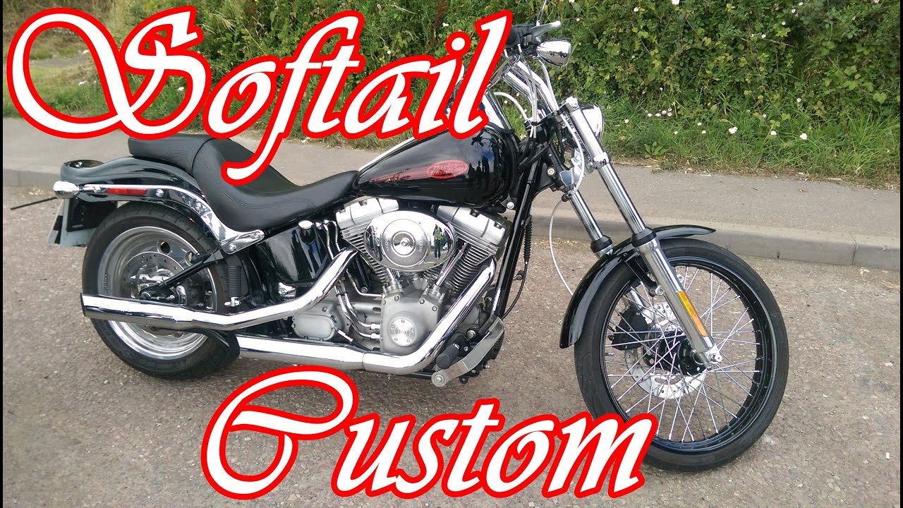 Harley Davidson Softail Custom - Fast road test / Review - YouTube