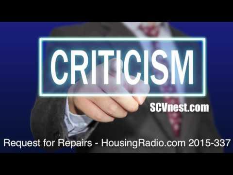 HousingRadio.com presents Request for Repairs