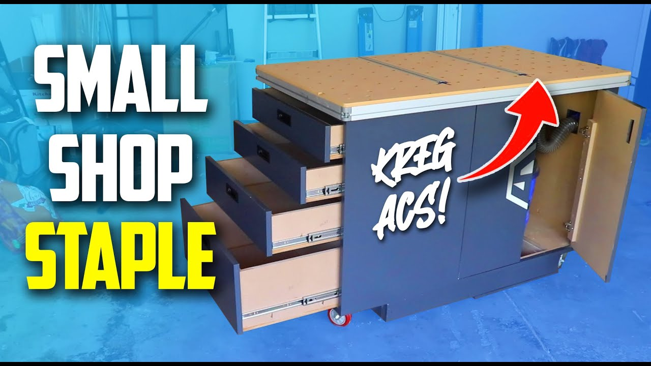Best Small Garage Workbench - With Dust Collection (Part 3)