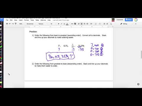 Notes 23-24 Ordering Rational Numbers