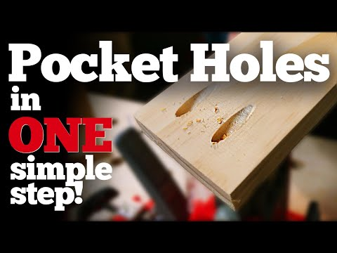 Pocket Holes in One Simple Step