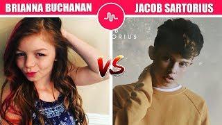 Brianna Buchanan Vs Jacob Sartorius ( Pop Singer Battle With Muser ) Musically Compilation
