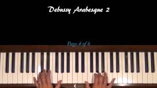 Debussy Arabesque 2 Piano Tutorial
