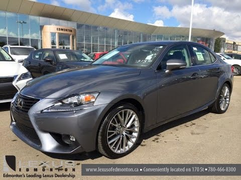 new grey 2015 lexus is 250 4dr sport sdn auto awd - premium package