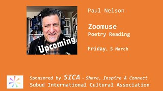 Zoomuse poetry reading with Paul Nelson on Friday, March 5