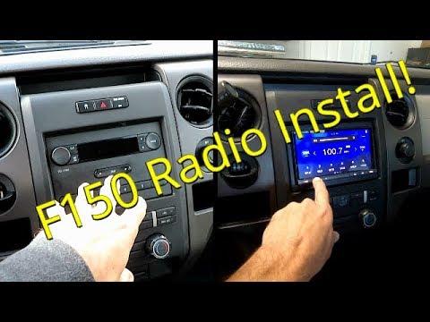 Ford F150 Double Din Sony XAV-AX5000 Apple Car Play Radio Install!