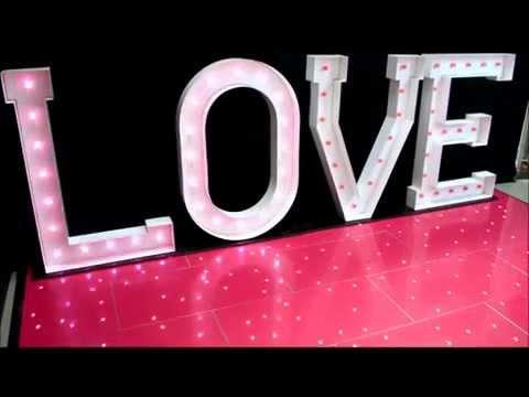 LIGHT UP LOVE LETTERS - LED 5ft LOVE LETTERS