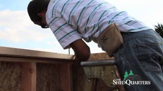 Shedquarters Panelized Wood Shed Diy Kit Instructional Video