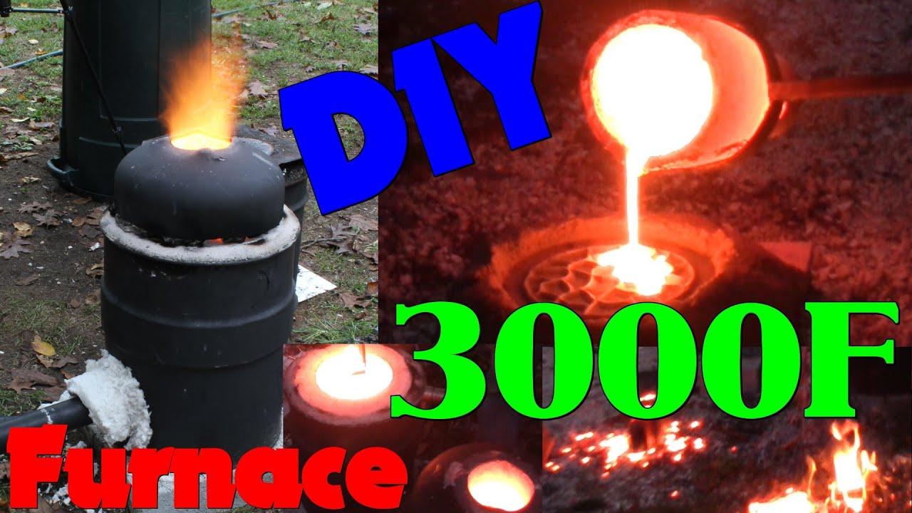 DIY Iron Furnace Build - YouTube