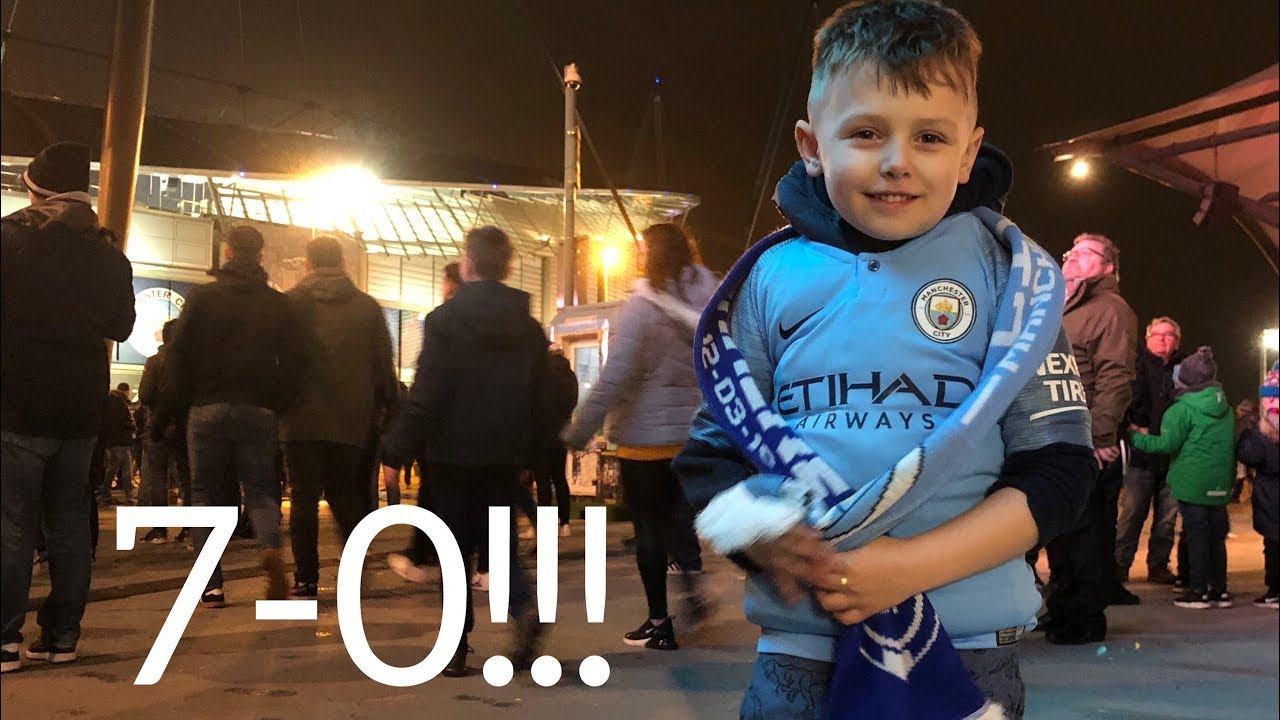 My Sons First Manchester City Match & Won 7-0!!! [CHAMPIONS LEAGUE]