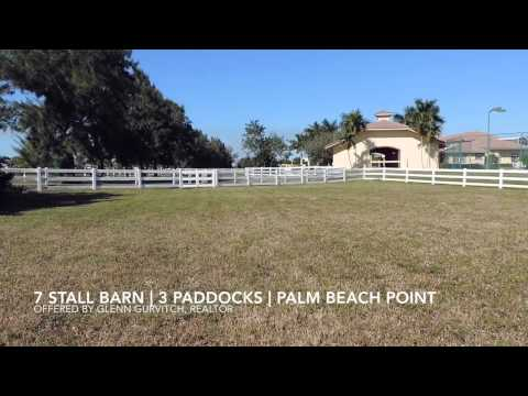 Seven Stall Equestrian Facility for Lease Wellington Fl