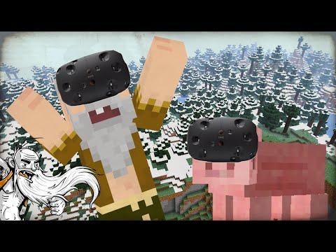 """MINECRAFT VR HARDCORE WORLD!!!""  HTC Vive Minecraft Mod Virtual Reality (VR)!"