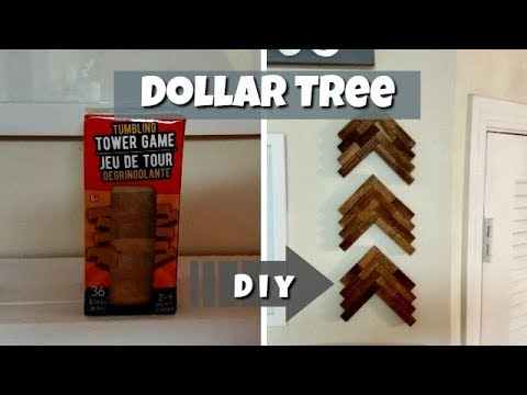 Dollar Tree DIY  l  Wooden Wall Decor!!!
