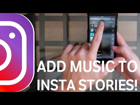 HOW to ADD MUSIC to your INSTAGRAM STORIES!