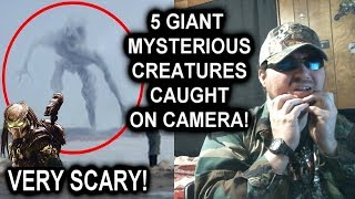5 Giant Mysterious Creatures Caught On Camera (The Magnum) REACTION!!! (BBT)