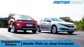Honda Civic vs Jeep Compass - Rs. 25 Lakh Decision! | MotorBeam