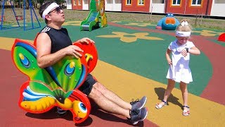 Настя и папа - новая серия про спорт