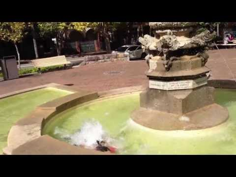 Jumping into a fountain for $200