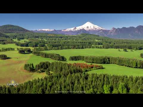 4K Drone Mountains Volcano Chile Stock Footage Clip 21