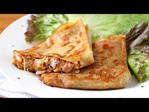 Crepes de jamón y queso - Receta fácil y rápida