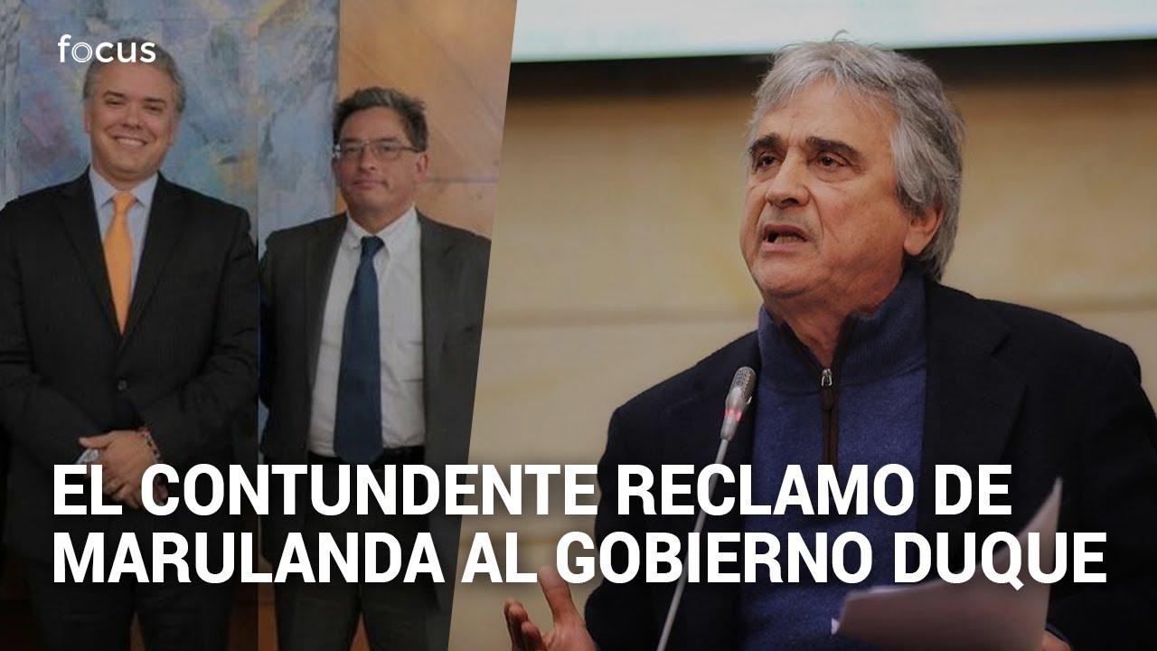 Contundente reclamo de Iván Marulanda al gobierno Duque