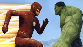 FLASH VS HULK (GTA 5)