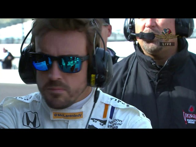 Fernando Alonso Tests At Indianapolis Motor Speedway