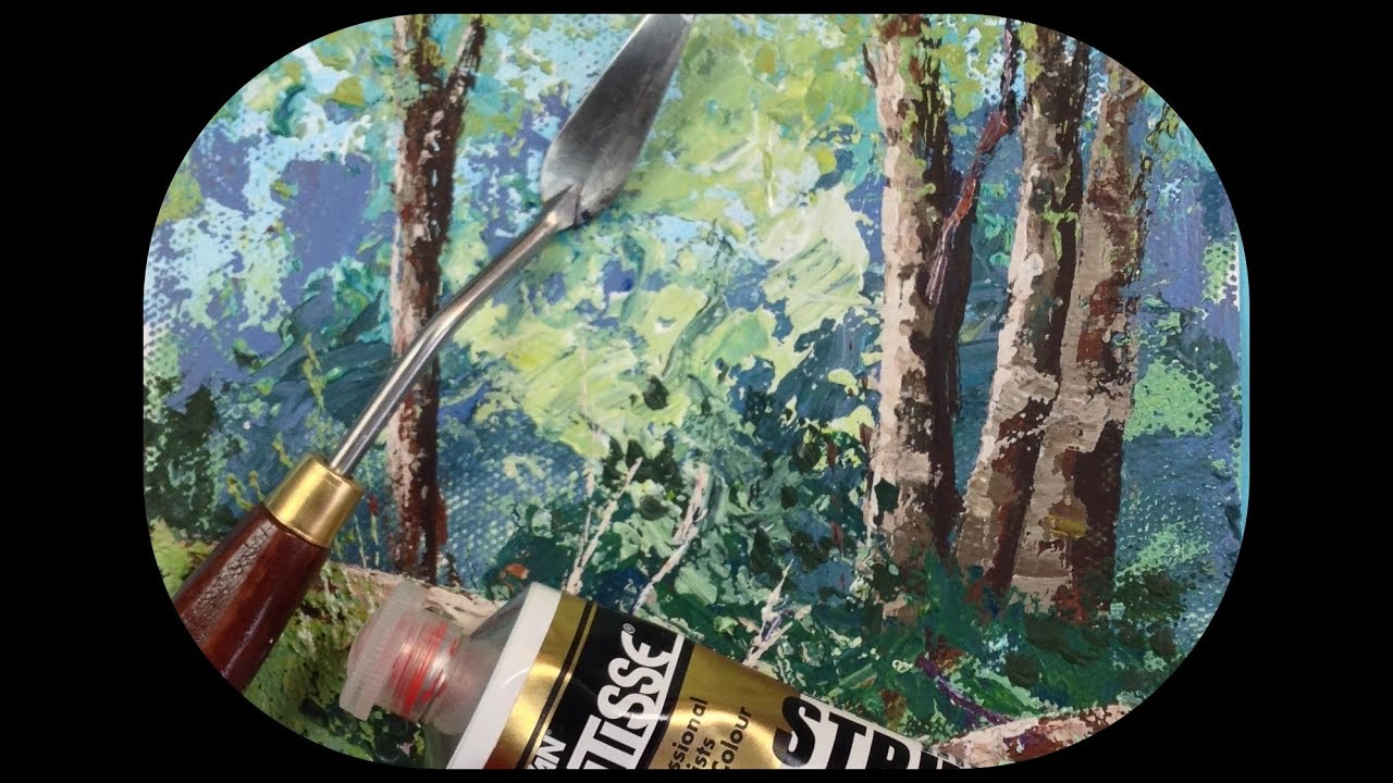 How to Paint Rocks and Trees with a Palette Knife Tips and Tricks  YouTube