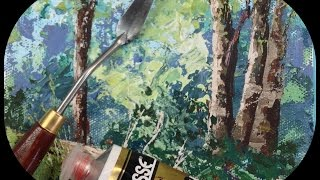 How to Paint Rocks and Trees with a Palette Knife: Tips and Tricks