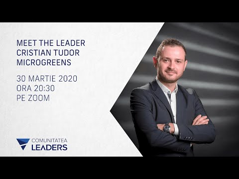 Meet the leader - Cristian Tudor, Microgreens
