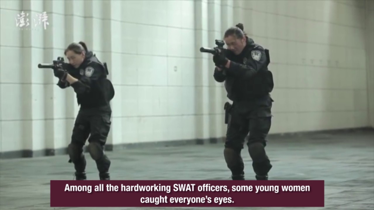 Wonder Women! See the power of young female SWAT officers training ...