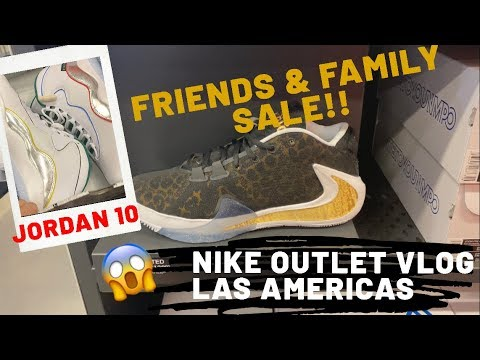 oficial mejor calificado detallado marca famosa Nike Factory Store Las Americas Premium Outlet - Friends and Family Weekend  30% OFF w/ Nike Plus - YouTube