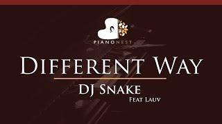DJ Snake - Different Way Feat Lauv - HIGHER Key (Piano Karaoke / Sing Along)