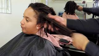 #646 - Trimming Natural Hair CURLY | Removing Heat Damage