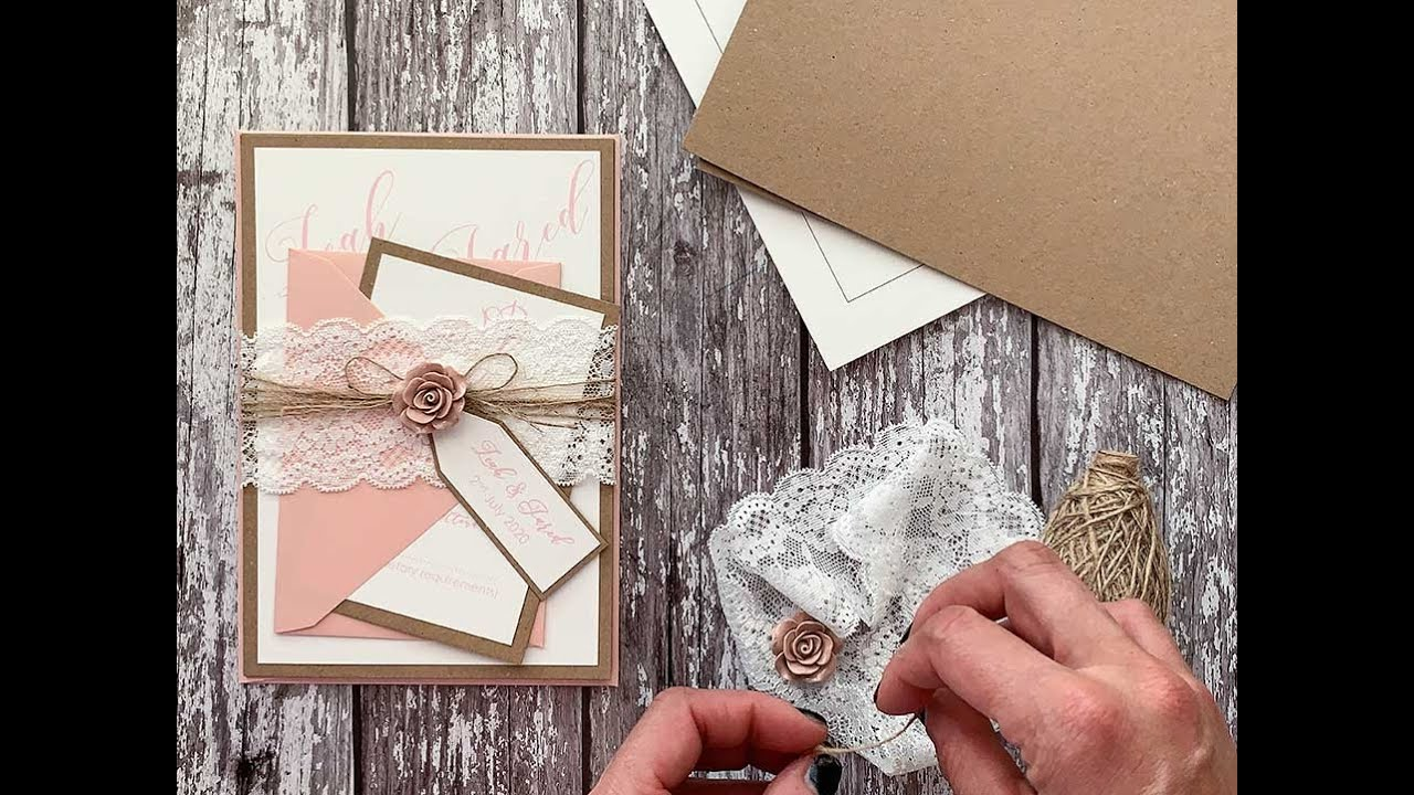 How To Make A Wedding Invitation Holder With Lace Diy Wedding Invitation Ideas
