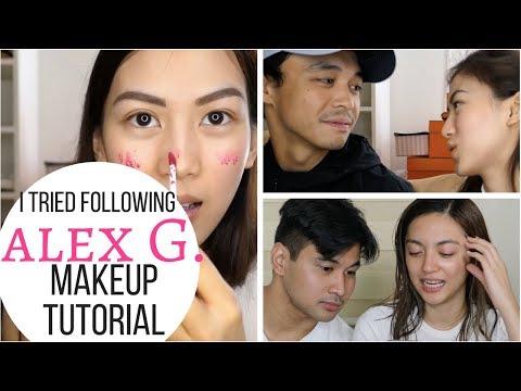 I Tried Following ALEX G. Makeup Tutorial